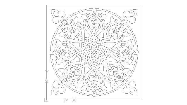 autocad drawing Arabesque Spain Islamic Art in Decorative elements