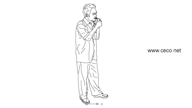 asian man smoking in People / Men - Ceco.NET free autocad drawings