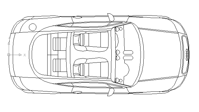 autocad drawing Audi TT Roadste Convertible in Vehicles, Cars