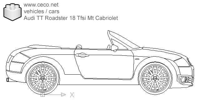 autocad drawing Audi TT Roadster 18 Tfsi Mt Cabriolet in Vehicles, Cars