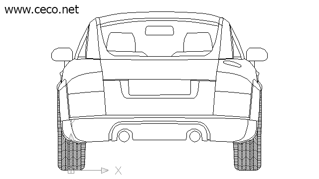 autocad drawing Audi TT two door compact sports car in Vehicles, Cars