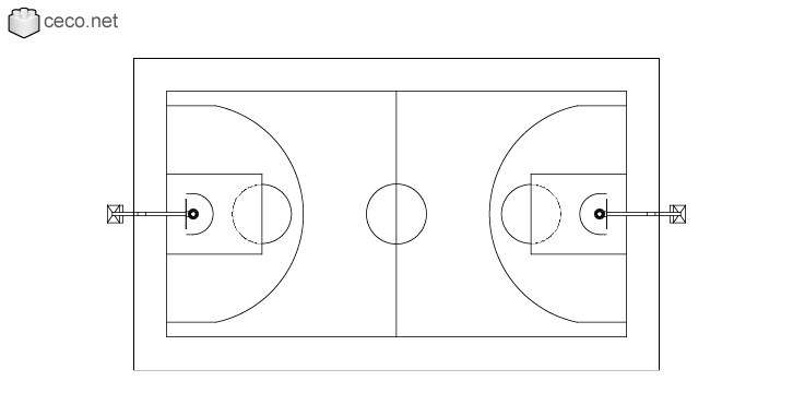 autocad drawing basketball court according to NBA official specifications in Equipment, Sports Gym Fitness