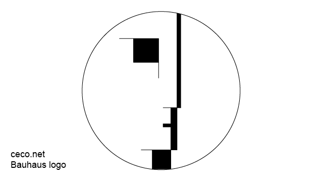 autocad drawing Bauhaus logo in Architecture