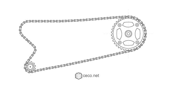 autocad drawing Bicycle chain with the chainring , bike chains in Vehicles, Bikes & Motorcycles