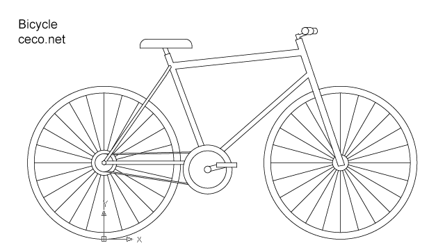bicycle in Vehicles / Cars - Ceco.NET free autocad drawings