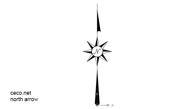classic north-arrow in Symbols / North Arrows - Ceco.NET free autocad drawings