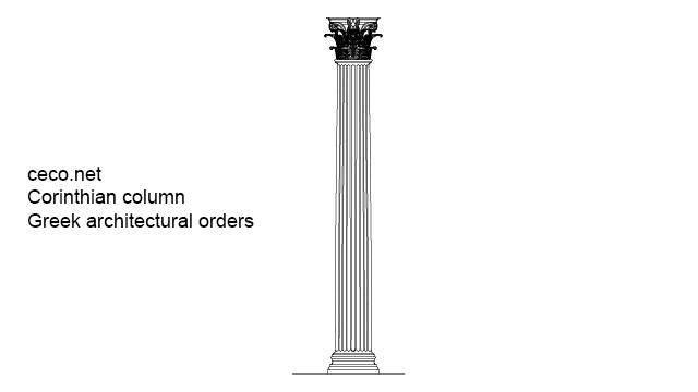 corinthian columns - classical greek architectural orders in Architecture - Ceco.NET free autocad drawings