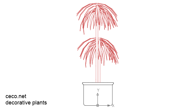 decorative potted plants in Landscaping / Plants Bushes - Ceco.NET free autocad drawings