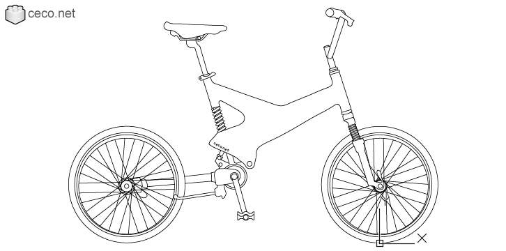 autocad drawing Downhill mountain bike in Vehicles, Bikes & Motorcycles