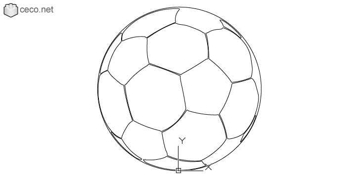 autocad drawing football ball FIFA World Cup soccer ball in Equipment, Sports Gym Fitness
