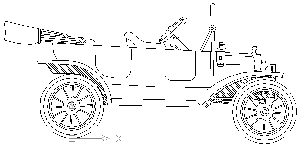 autocad drawing Ford model T in Vehicles, Cars