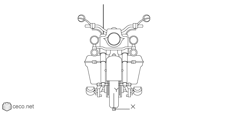 autocad drawing Harley Davidson Motorcycle Model Street Glide FLHX in Vehicles, Bikes & Motorcycles