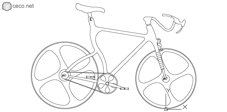 autocad drawing High-Tech bicycle carbon fiber frame conceptual bike in Vehicles, Bikes & Motorcycles