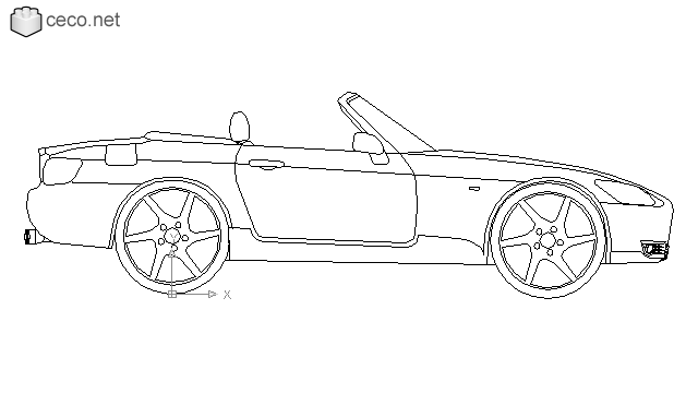 Honda S2000 roadster in Vehicles / Cars - Ceco.NET free autocad drawings