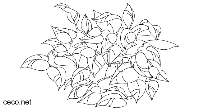 houseplant golden pothos, money plant in Landscaping / Plants Bushes - Ceco.NET free autocad drawings