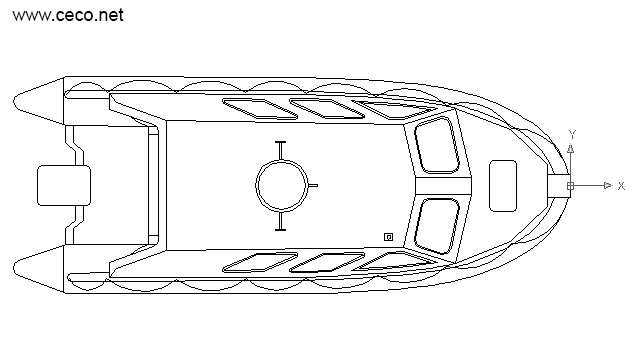 autocad drawing lifeboat rescue boat top in Vehicles, Boats & Ships
