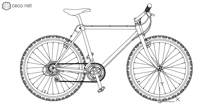 autocad drawing mountain bike rolled 26 Enduro bicycle mtb bmx bikes in Vehicles, Bikes & Motorcycles