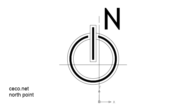north point 2 modern in Symbols / North Arrows - Ceco.NET free autocad drawings