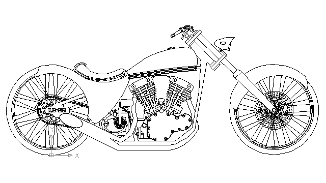 harley davidson engine drawing