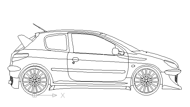 autocad drawing Peugeot 206 RC 3 doors in Vehicles, Cars