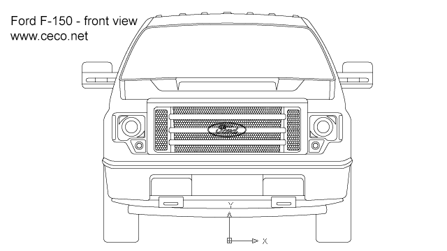 pick-up Ford F-150 regular cab in Vehicles / Cars - Ceco.NET free autocad drawings