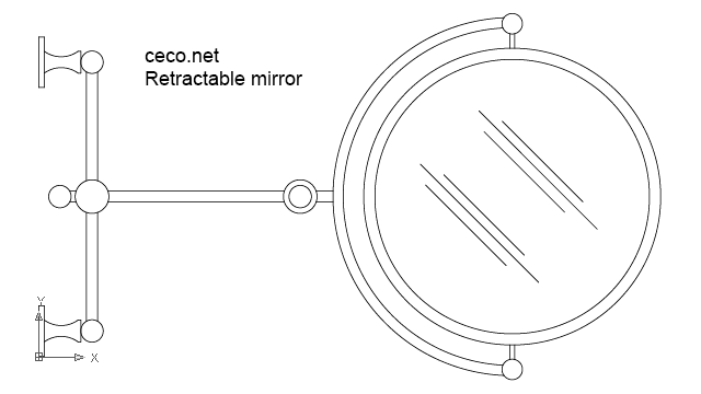 Retractable shaving mirror in Bathrooms Detail - Ceco.NET free autocad drawings