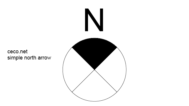 simple north arrow 2 in Symbols / North Arrows - Ceco.NET free autocad drawings
