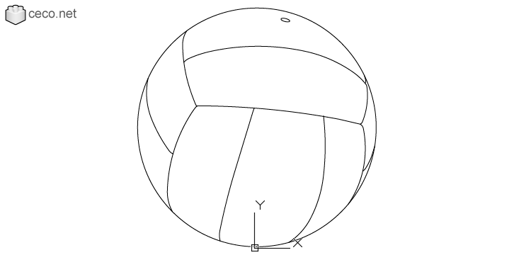 autocad drawing volleyball ball indoor and beach professional volleyball ball in Equipment, Sports Gym Fitness