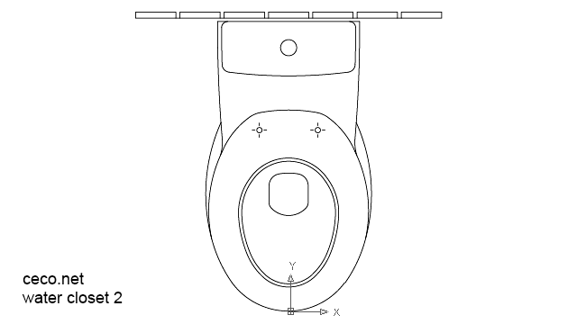 autocad drawing water closet 2 toilete in Bathrooms Detail