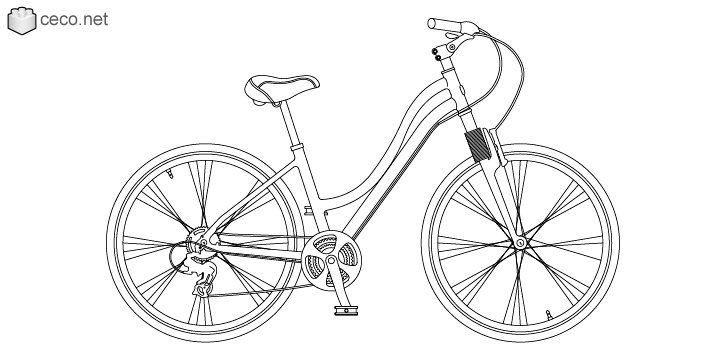 autocad drawing Womens bike urban bicycle for women in Vehicles, Bikes & Motorcycles